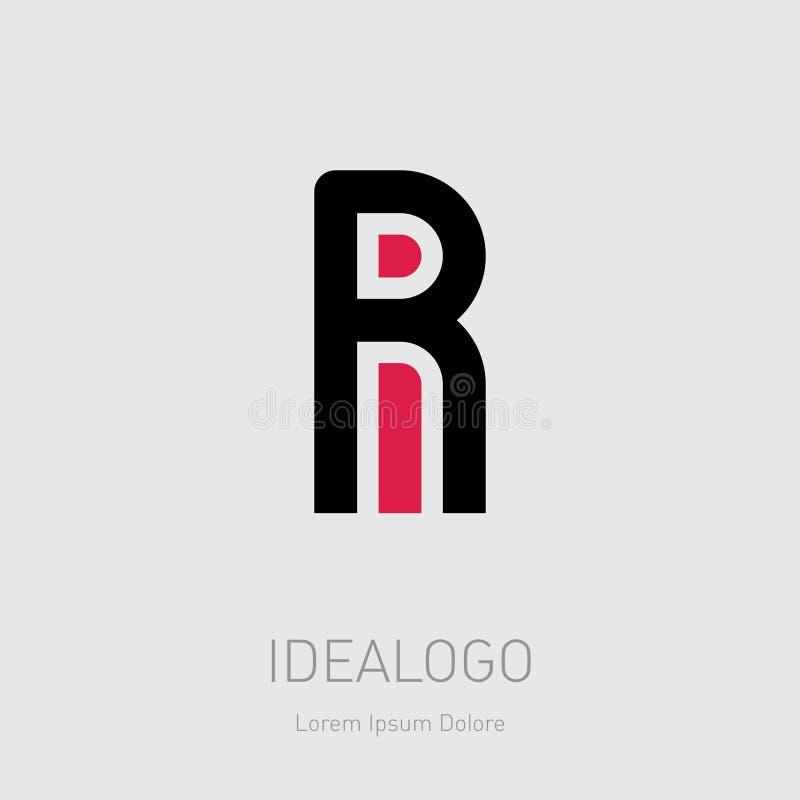 Logo initial de R et d'I Logotype initial de monogramme de RI Élément ou icône IR de conception de vecteur illustration de vecteur