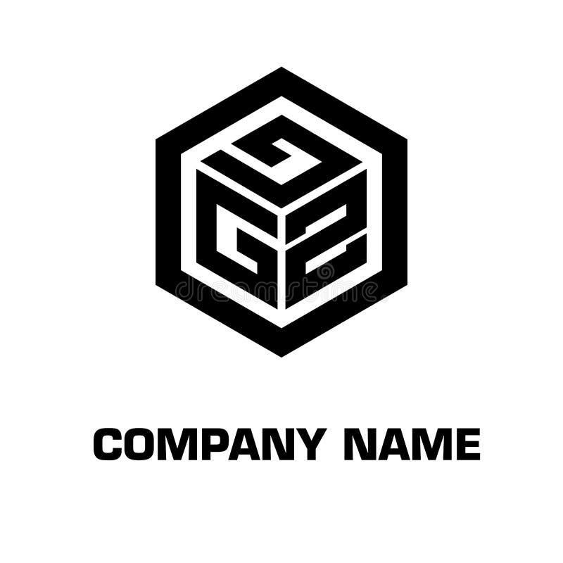 Logo initial hexagon for a company royalty free stock photos