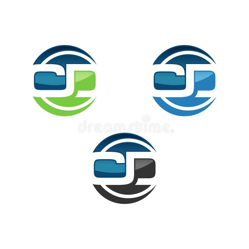 Initial C and D letter logo design template. Logo with initial letter on circle background shape. Logo for various company especially for business and finance vector illustration