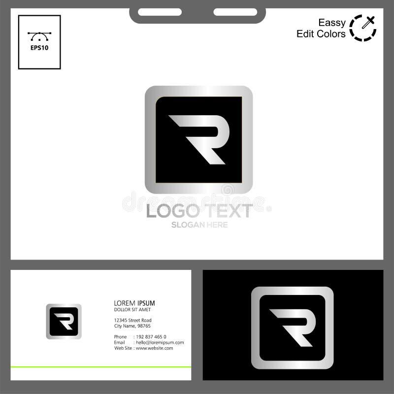 logo letter R for technology concept vector illustration