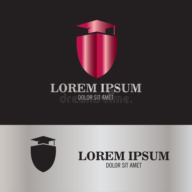 Logo instruit de bouclier illustration stock