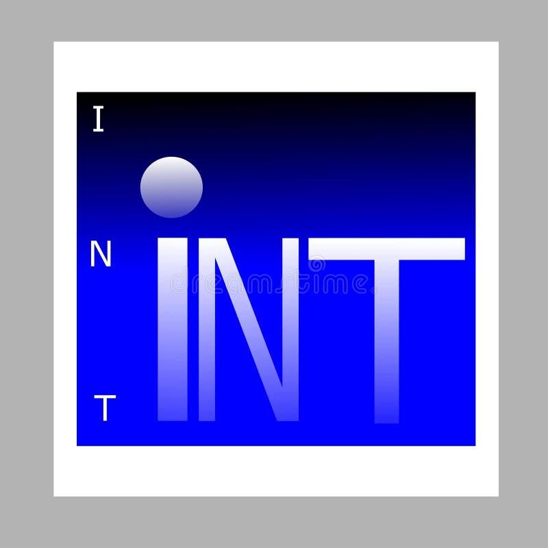 Logo Int-Internet, tegen de achtergrond van de aarde vector illustratie