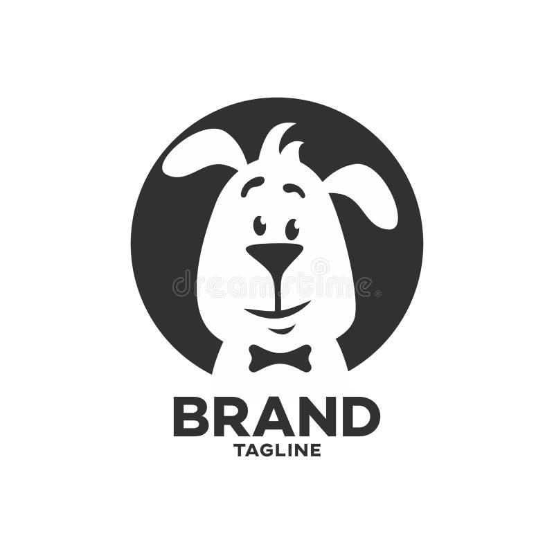 Logo intelligent de chien d'animal familier moderne illustration libre de droits