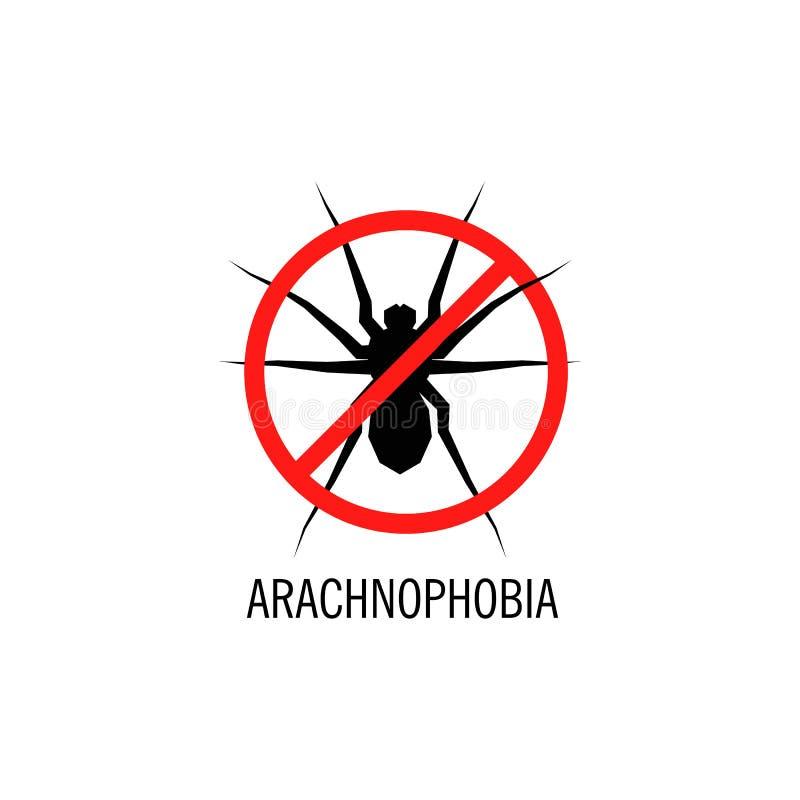 Logo isolato di vettore del ragno Illustrazione dell'insetto arachnophobia Icona di Halloween royalty illustrazione gratis