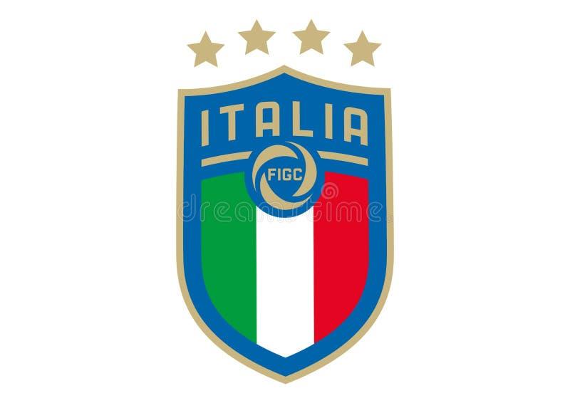 Logo italiano nazionale di calcio illustrazione vettoriale