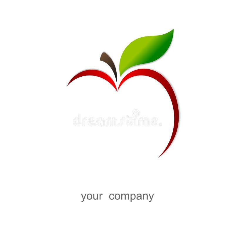 logo jabłczana czerwień ilustracja wektor