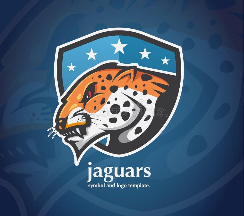 Logo Jaguar de tigres illustration de vecteur