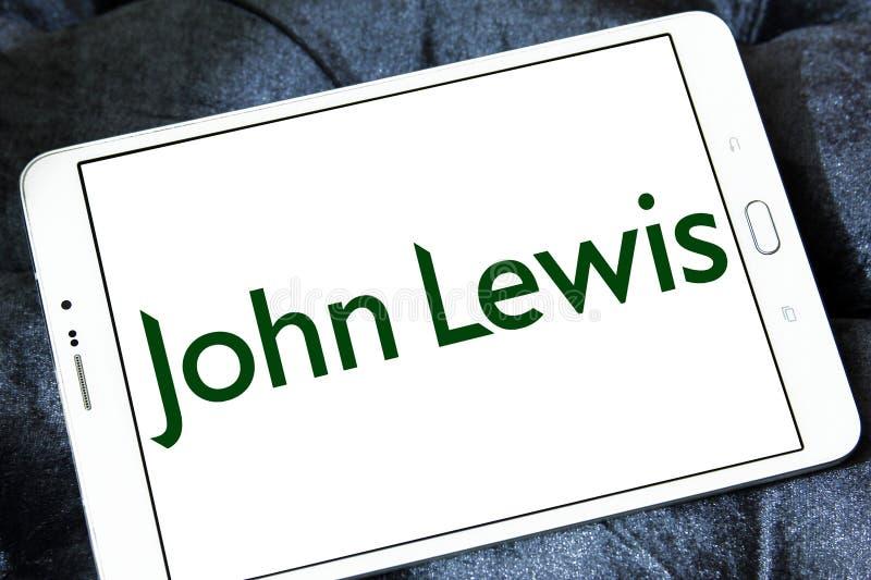 John Lewis department store logo. Logo of John Lewis stores on samsung tablet. John Lewis is a chain of high end department stores operating throughout the royalty free stock image