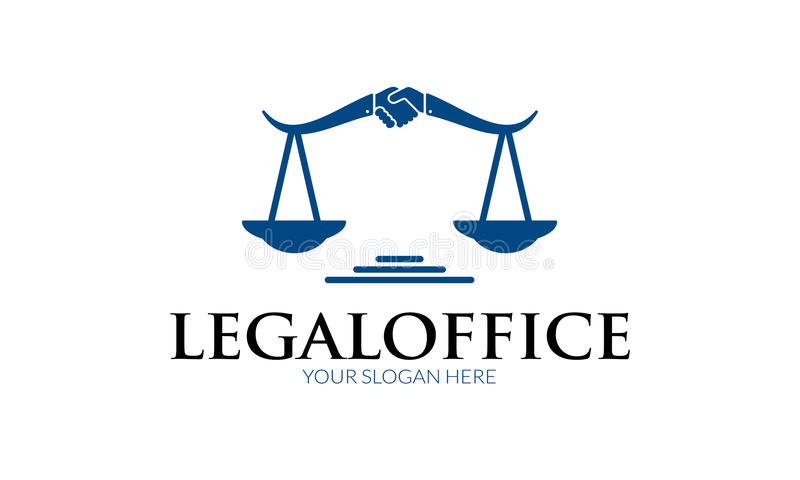 Logo juridique de bureau illustration libre de droits