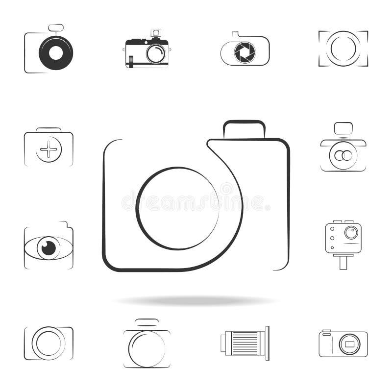 logo kamery ikona Szczegółowy set fotografii kamery ikony Premia graficzny projekt Jeden inkasowe ikony dla stron internetowych,  ilustracji