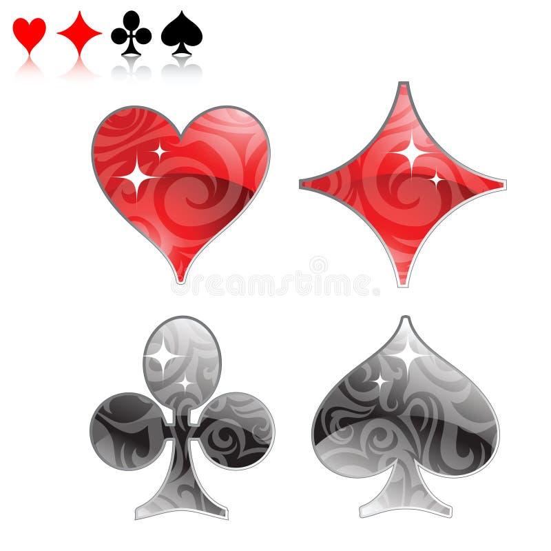 logo karty grać royalty ilustracja