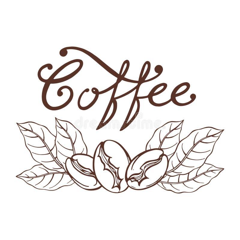 Logo kawa ilustracja wektor
