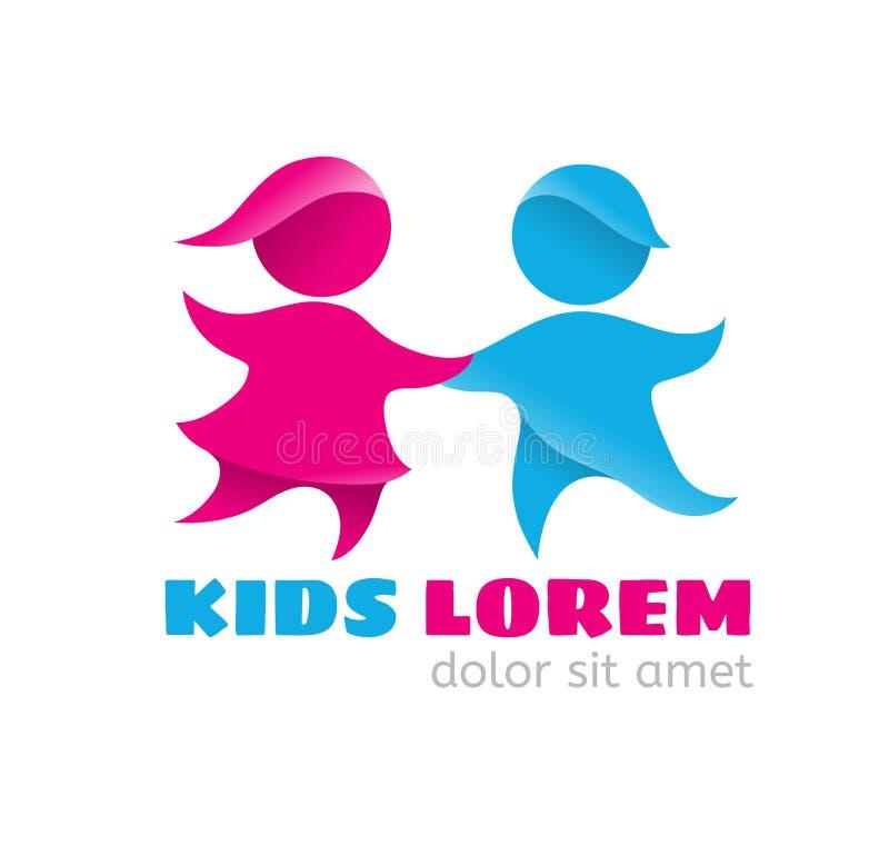 Logo kids vector illustration