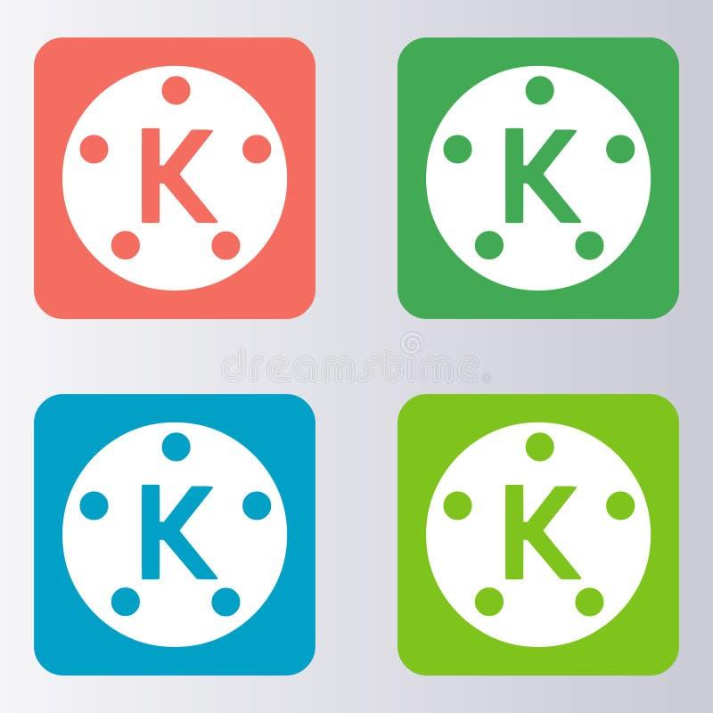 Logo Kinemaster di download illustrazione di stock