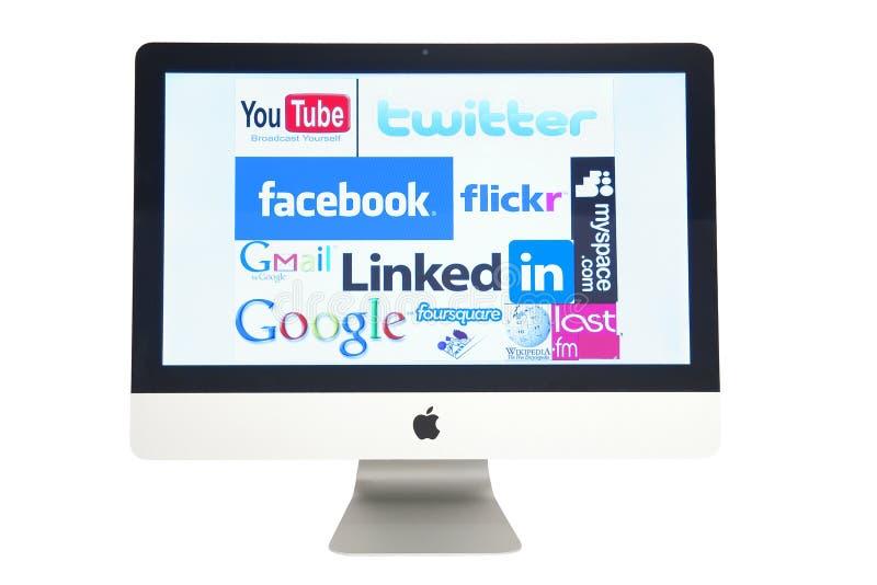 logo komputerowe strony internetowe zdjęcia stock