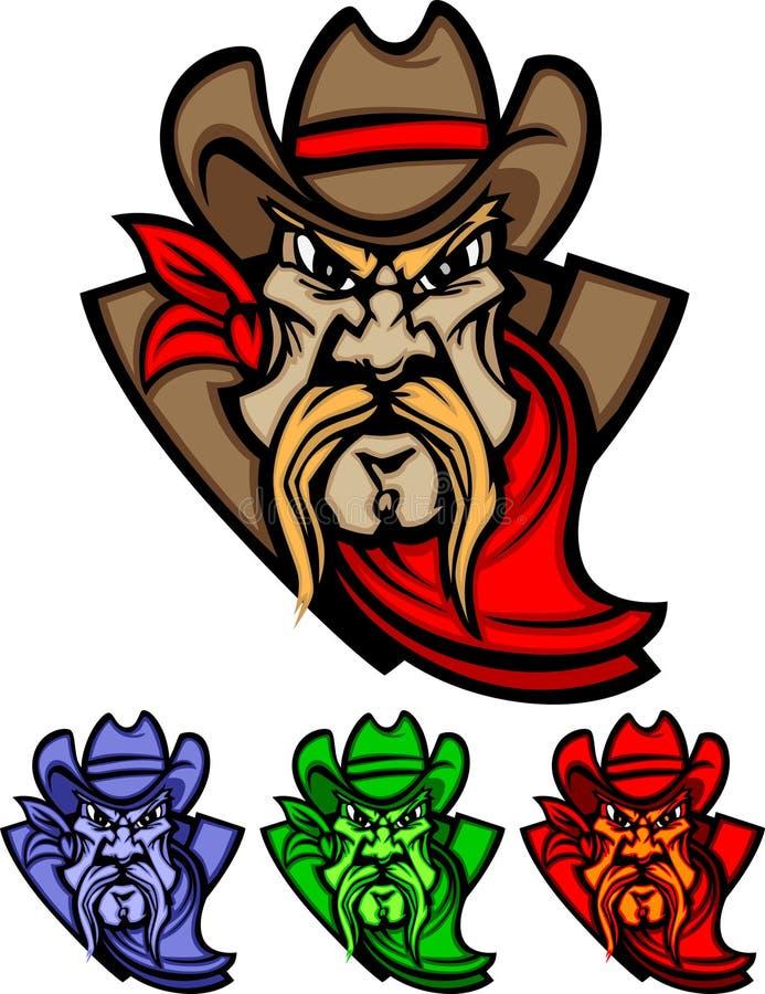 logo kowbojska maskotka ilustracja wektor