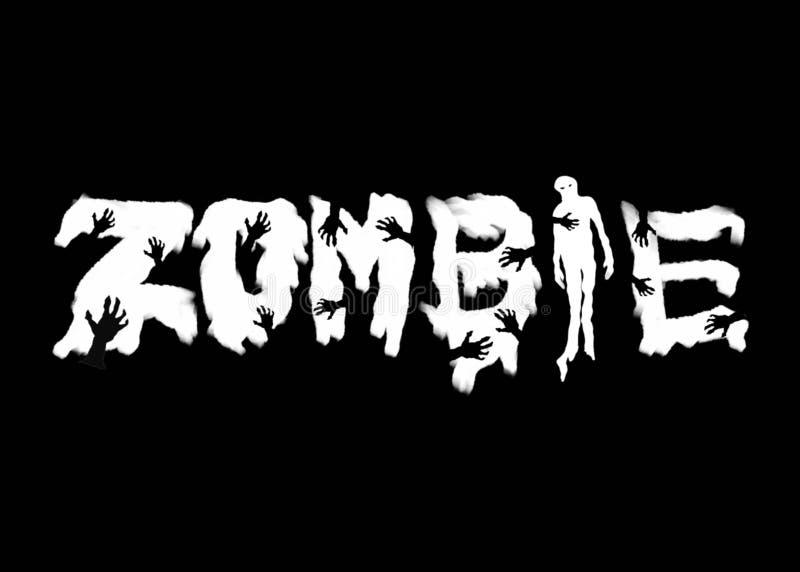 Logo kreatywnie kaligrafia dla Halloween ilustracji
