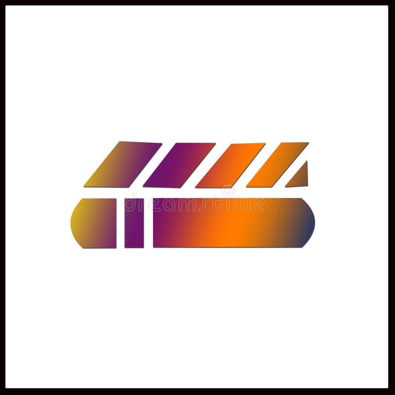Logo kształtować linie zdjęcia stock
