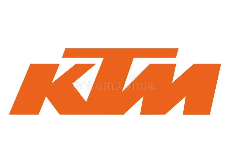 Logo KTM stock illustrationer