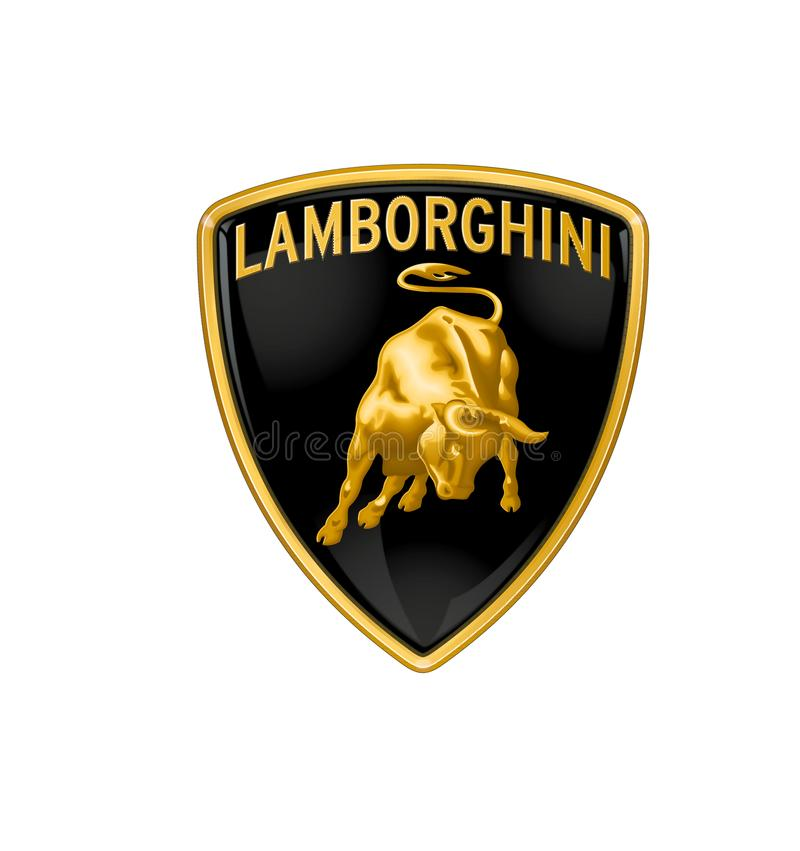 Logo Lamborghini. Car color vector format aviable ai