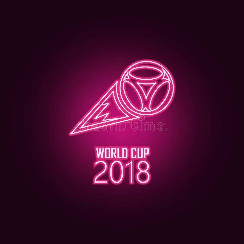 logo latający 2018 piłki neonowa ikona Elementy mistrzostwa 2018 set Prosta ikona dla stron internetowych, sie? projekt, mobilny  ilustracji