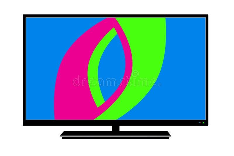 Logo LCD TV in vector royalty free illustration