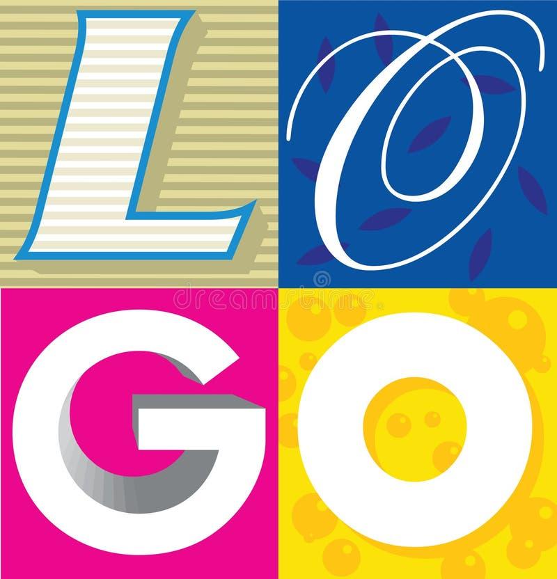 Logo le mot illustration libre de droits