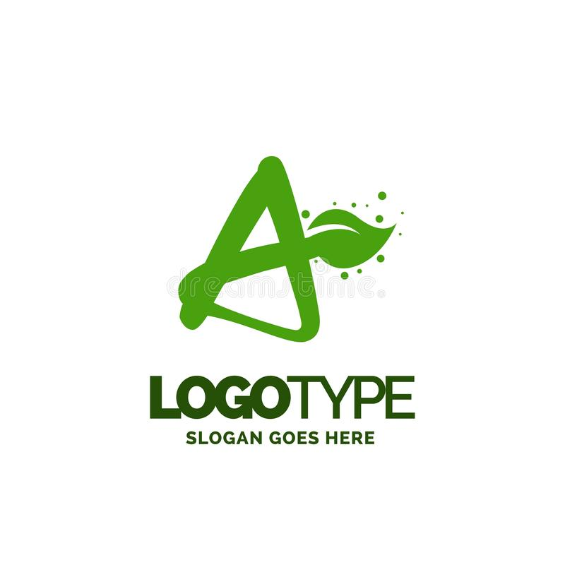 A logo with Leaf Element. Nature Leaf logo designs, Simple leaf. Logo symbol. Natural, eco food. Organic food badges in vector. Vector logos. Natural logos with royalty free illustration