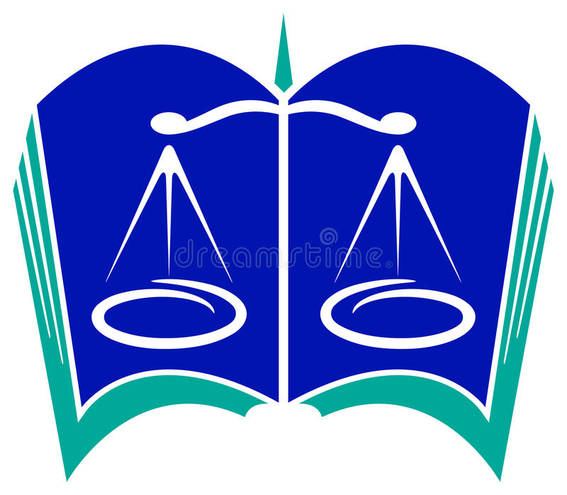 Logo legale illustrazione vettoriale