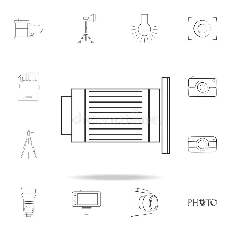 logo lens icon. Detailed set of photo camera icons. Premium graphic design. One of the collection icons for websites, web design, vector illustration