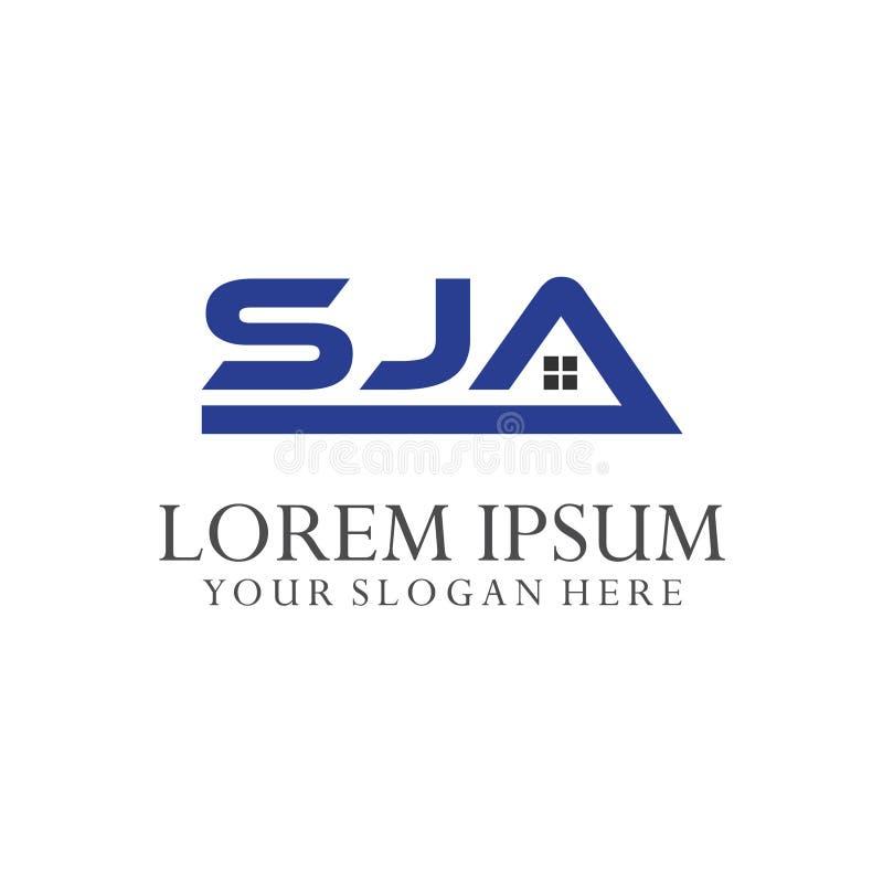 Logo Letter Combinations S, J e A 3 combinações de letra ilustração royalty free