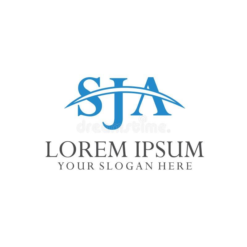 Logo Letter Combinations S, J e A 3 combinações de letra ilustração stock