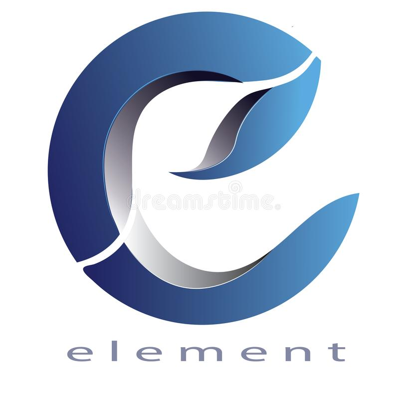 Logo Letter e `element` Editable EPS File. Logo letter e with colorfull. Circle and gradient, The simple logo, editable and good for your business. 3D stock illustration