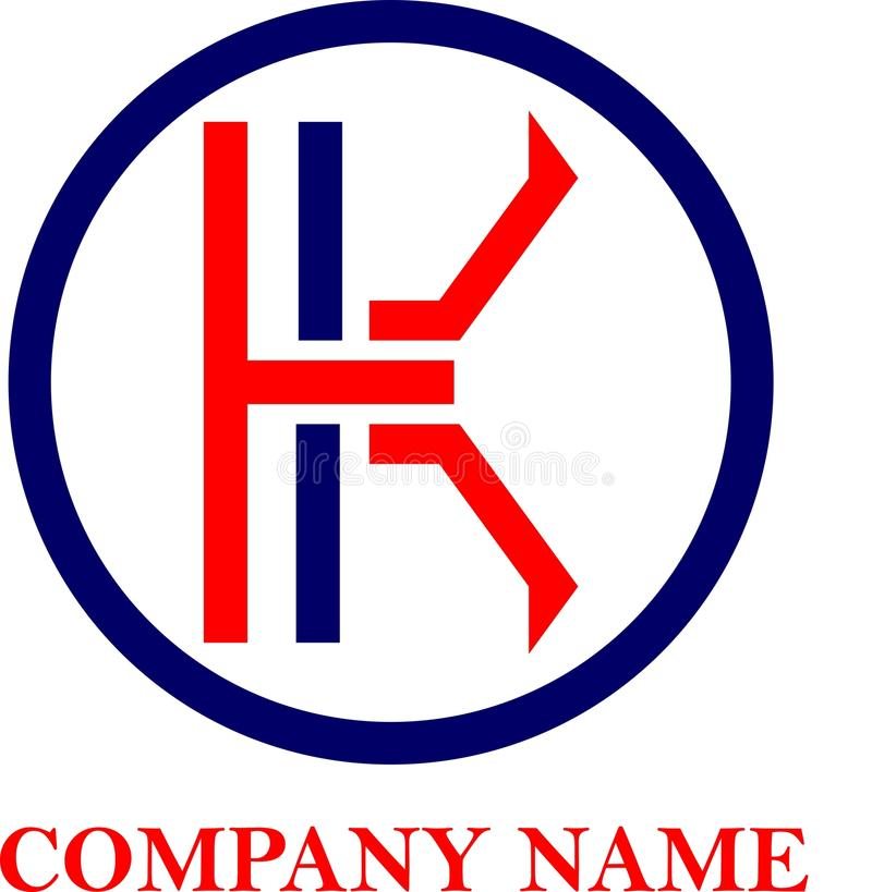 Logo Letter K with Circle. Is a exclusive logo design