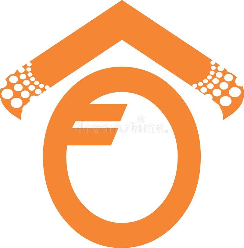 Logo Letter van o-samenvatting vector illustratie