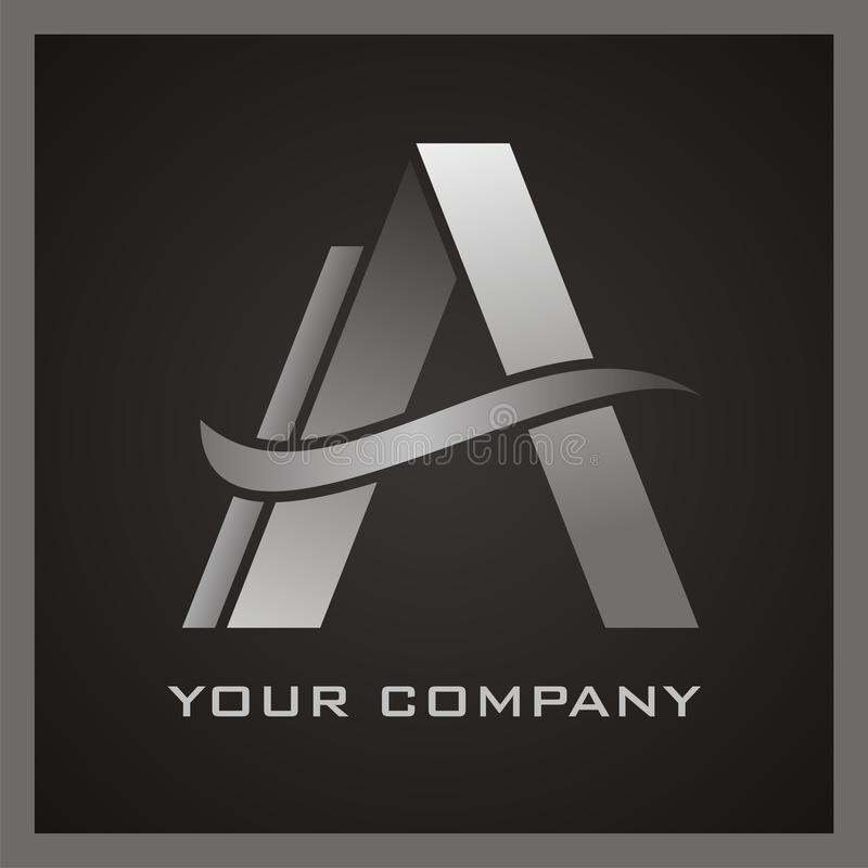 Letter A Logo Set. A Stylish letter a logo royalty free illustration