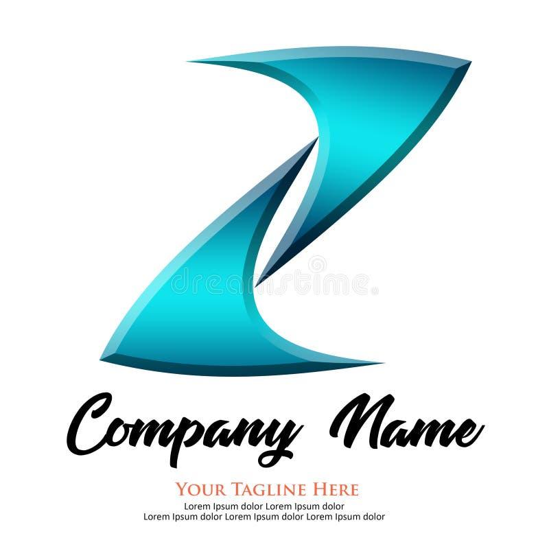 Logo with Letter Z Blue royalty free illustration
