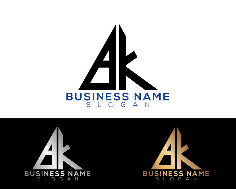 Logo Letters stock afbeelding