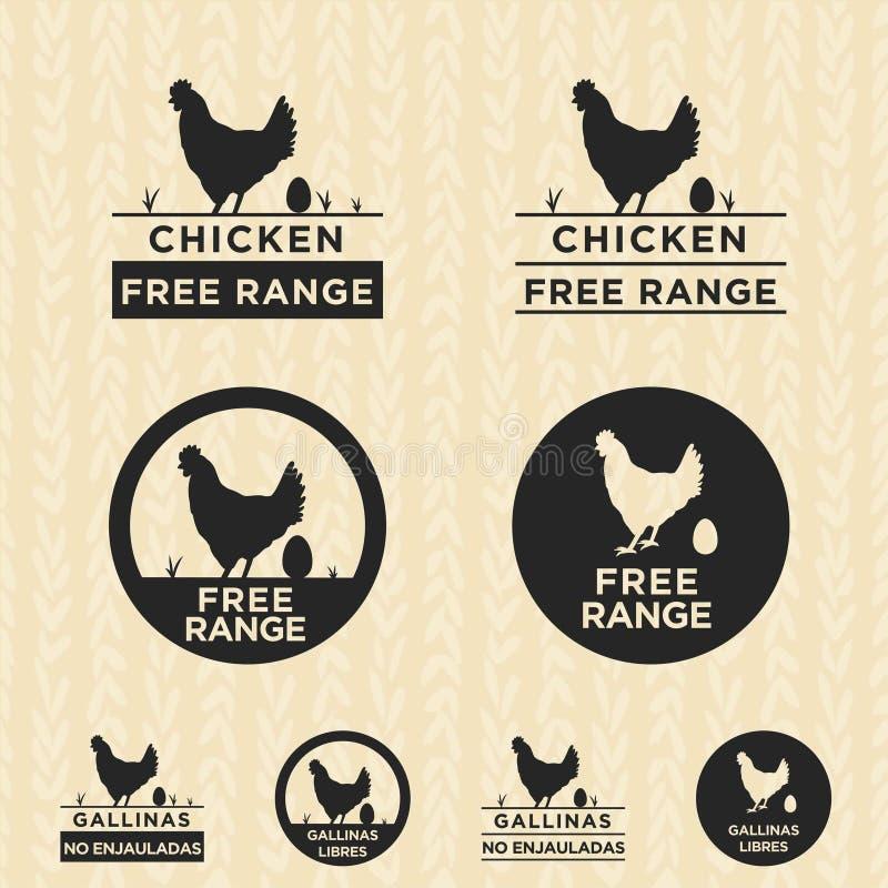 Logo libero della gamma del pollo illustrazione di stock