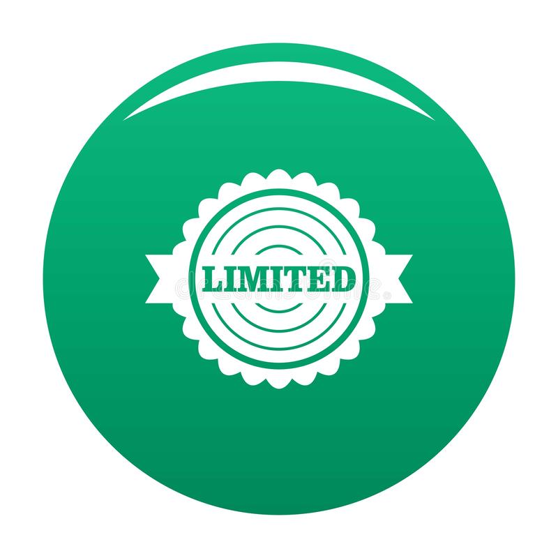 Logo limité, style simple illustration stock