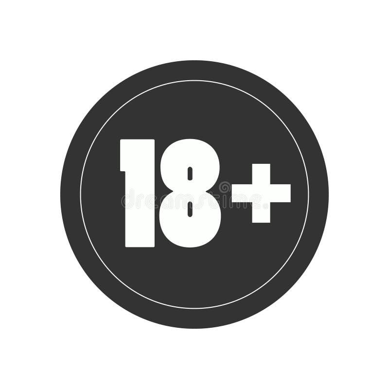Logo limitato di accesso di età illustrazione vettoriale
