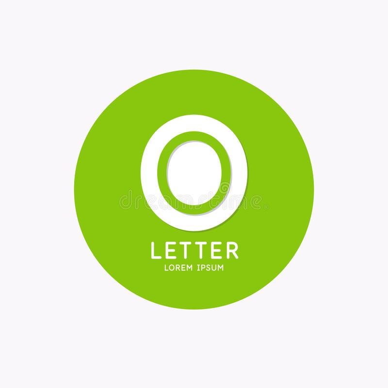 Logo lin?aire moderne et signer la lettre O illustration stock