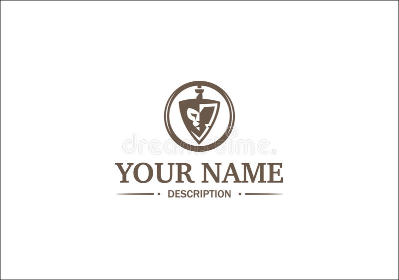 Logo with lion royalty free stock photography