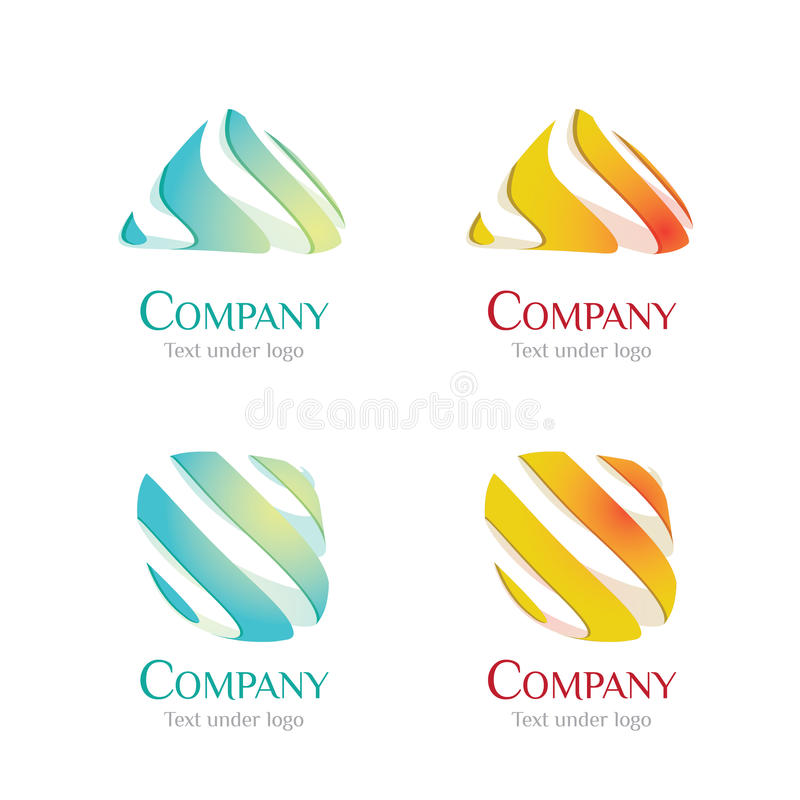 Logo - liquide 01 illustration stock