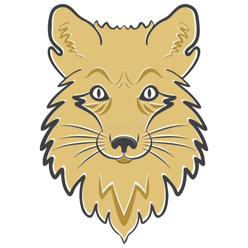 Logo lisa g?owa Stylizowana maskotka, wektorowa ikona ilustracji