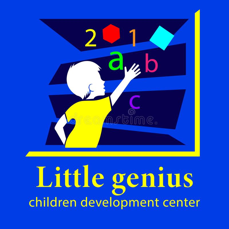 Logo Little Genius, Children Development Center royalty illustrazione gratis