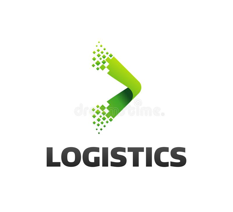 Logo logistico della società Icona della freccia Icona di consegna Icona della freccia freccia Logo di servizio di distribuzione  immagine stock libera da diritti