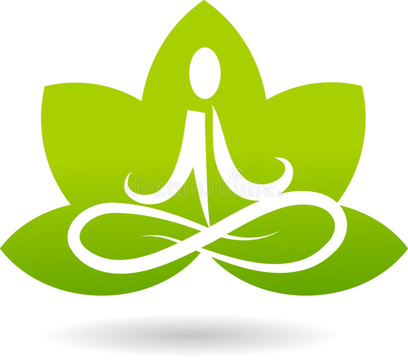 Logo lotosowa medytacja ilustracja wektor