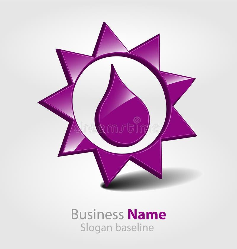 Logo lucido astratto di vettore 3D di affari 3D illustrazione di stock
