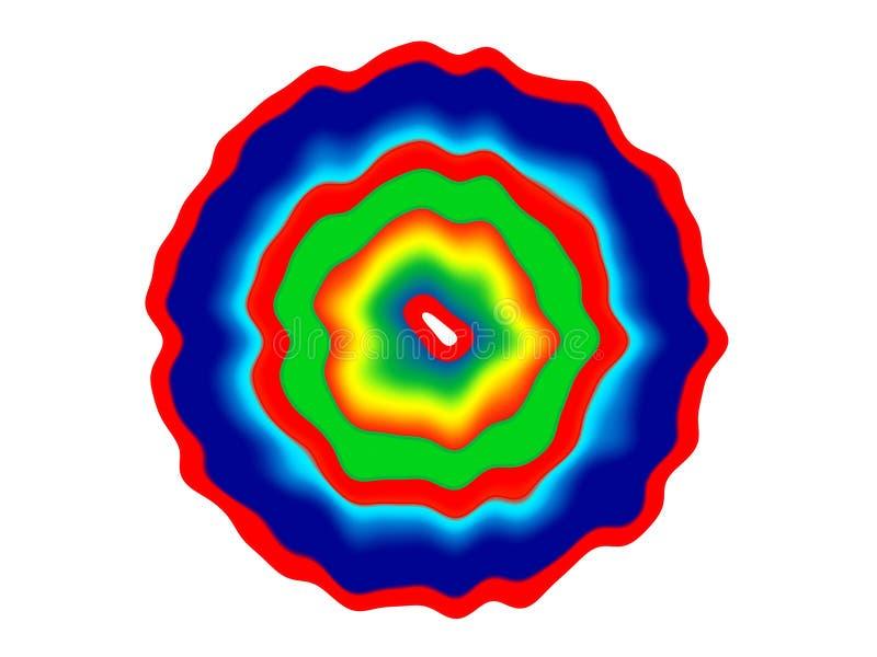 Logo lumineux abstrait en couleurs d'arc-en-ciel illustration stock